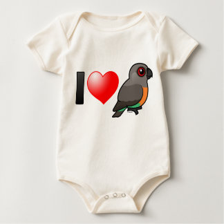 I Love Red-bellied Parrots Baby Bodysuit
