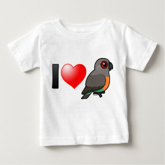 I Love Red-bellied Parrots Baby T-Shirt