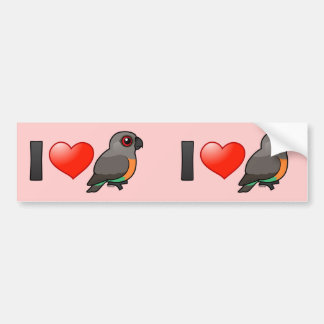 I Love Red-bellied Parrots Bumper Sticker