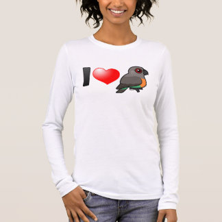 I Love Red-bellied Parrots Long Sleeve T-Shirt