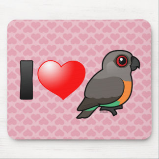 I Love Red-bellied Parrots Mouse Pads