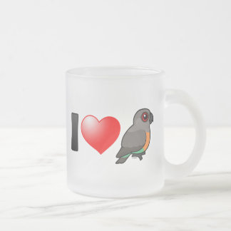 I Love Red-bellied Parrots 10 Oz Frosted Glass Coffee Mug