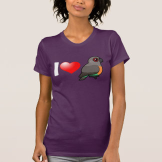 I Love Red-bellied Parrots T-shirts