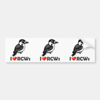 I Love Red-cockaded Woodpeckers Bumper Sticker