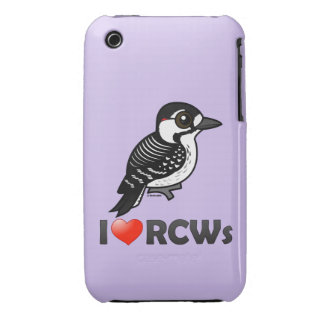 I Love Red-cockaded Woodpeckers iPhone 3 Case-Mate Cases