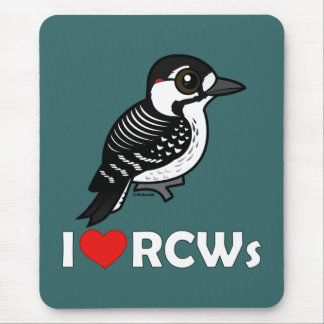 I Love Red-cockaded Woodpeckers Mouse Pad