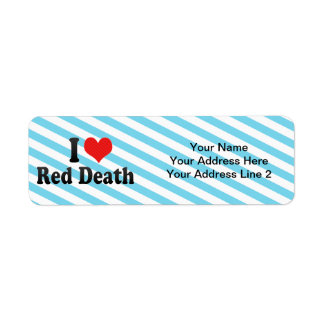 I Love Red Death Custom Return Address Label