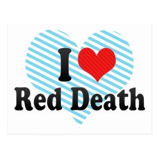 I Love Red Death Postcard