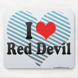 I Love Red Devil Mouse Pad