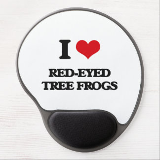 I love Red-Eyed Tree Frogs Gel Mouse Pad