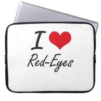 I Love Red-Eyes Laptop Sleeve