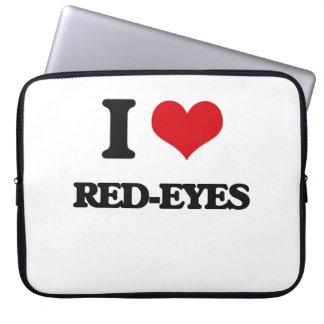 I Love Red-Eyes Laptop Sleeves