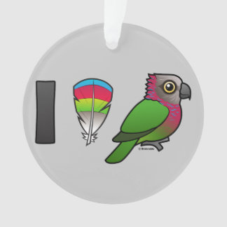 I Love Red-fan Parrots