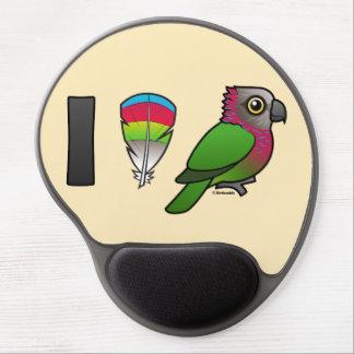 I Love Red-fan Parrots Gel Mouse Mat