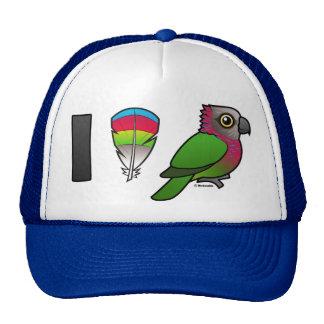I Love Red-fan Parrots Trucker Hat