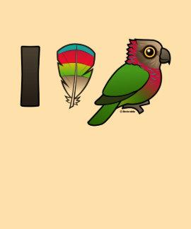 I Love Red-fan Parrots Tees