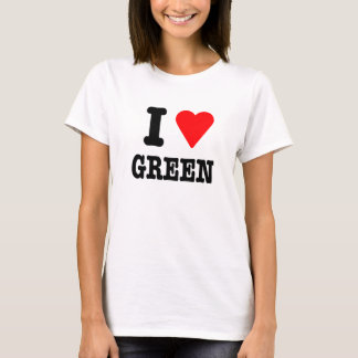 I Love(red) green T-Shirt