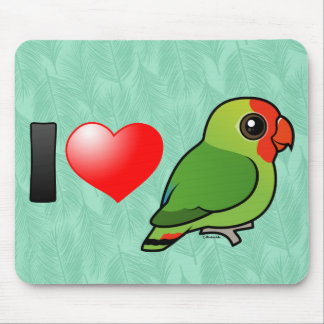 I Love Red-headed Lovebirds Mouse Pad