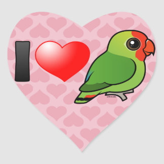 I Love Red-headed Lovebirds Stickers