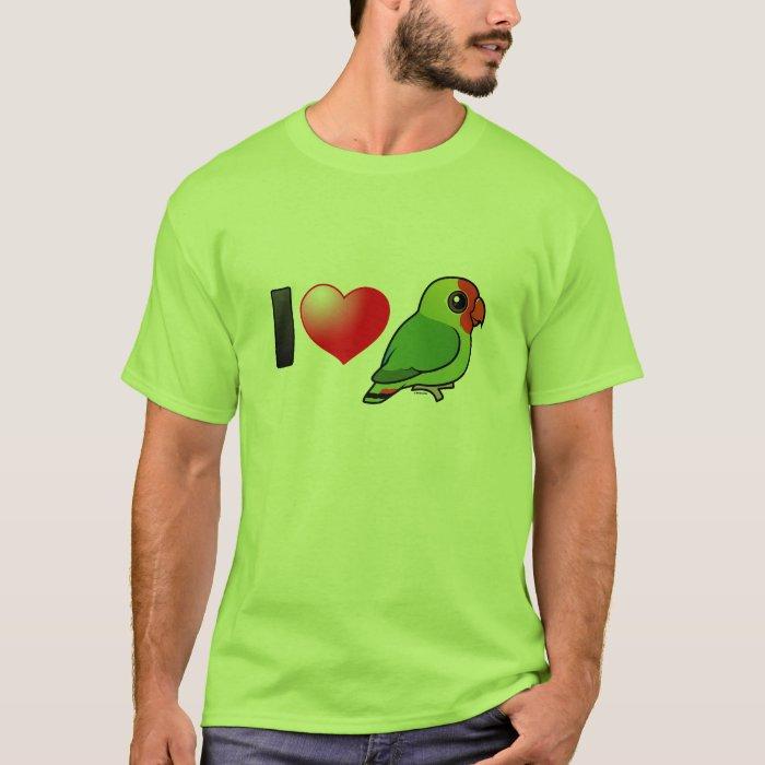 I Love Red-headed Lovebirds T-Shirt