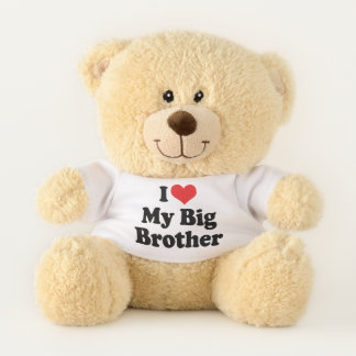 I Love (Red Heart) My Big Brother Teddy Bear