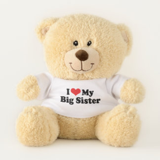 I Love (Red Heart) My Big Sister Teddy Bear