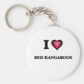 I Love Red Kangaroos Keychain