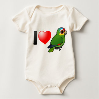 I Love Red-lored Amazons Baby Bodysuit