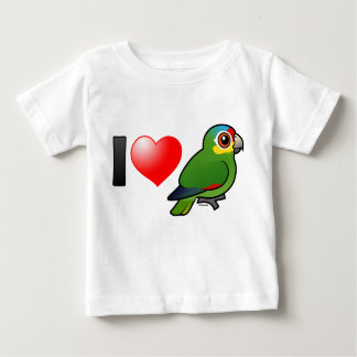 I Love Red-lored Amazons Baby T-Shirt