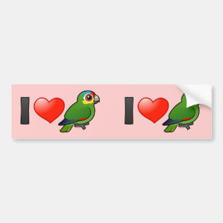 I Love Red-lored Amazons Bumper Sticker
