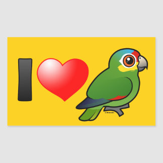 I Love Red-lored Amazons Sticker