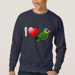 I Love Red-lored Amazons Sweatshirt