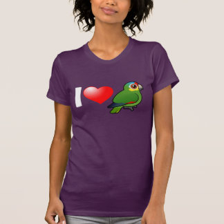 I Love Red-lored Amazons T Shirt