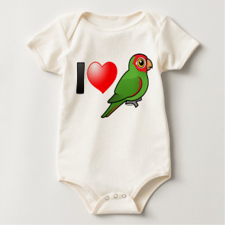 I Love Red-masked Parakeets Baby Bodysuit