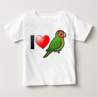 I Love Red-masked Parakeets Baby T-Shirt