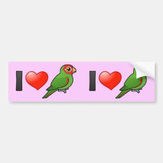I Love Red-masked Parakeets Bumper Sticker