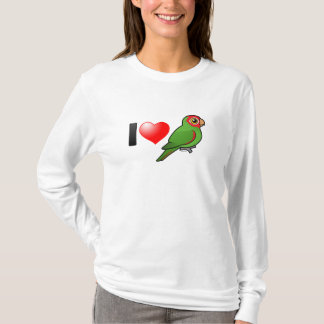 I Love Red-masked Parakeets T-Shirt