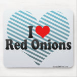 I Love Red Onions Mousepad