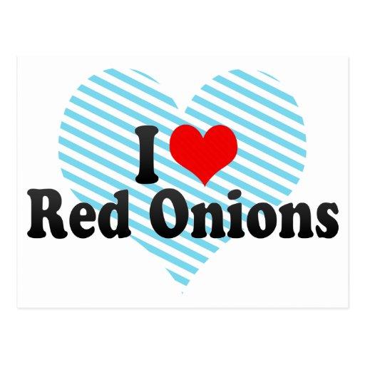 I Love Red Onions Postcard