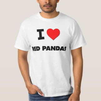 I Love Red Pandas T-Shirt
