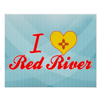 I Love Red River, New Mexico Print