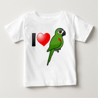 I Love Red-shouldered Macaws Baby T-Shirt