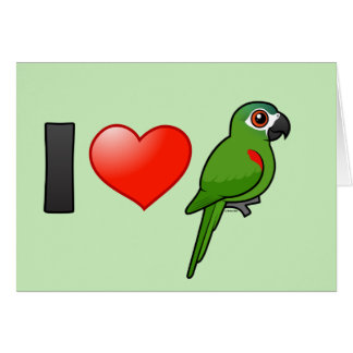 I Love Red-shouldered Macaws Card