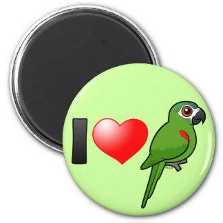 I Love Red-shouldered Macaws Magnet