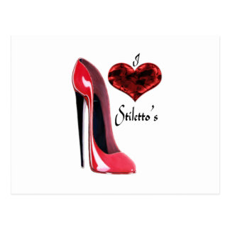 I love red Stiletto Shoe's and 3D Heart Postcard