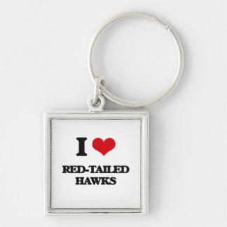 I love Red-Tailed Hawks Keychain