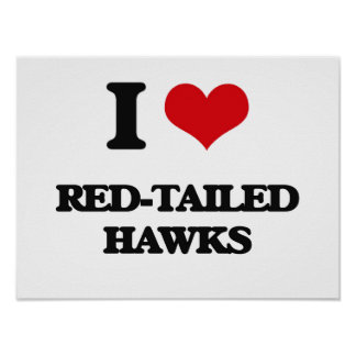 I love Red-Tailed Hawks Posters