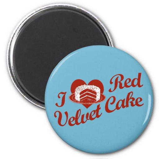 I Love Red Velvet Cake 2 Inch Round Magnet
