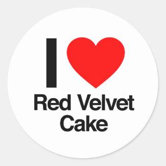i love red velvet cake classic round sticker