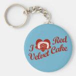 I Love Red Velvet Cake Key Chain